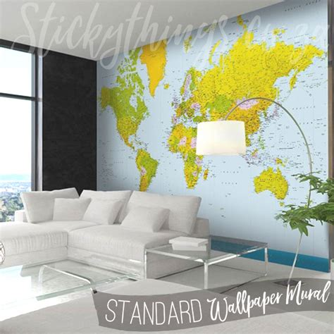 map of the world wall mural map of the world wall mural world map wallpaper