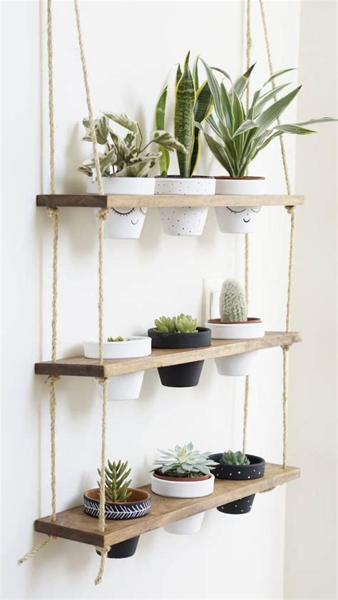 tribeca trio pot shelf hanging shelves planter shelves