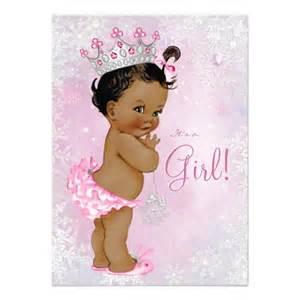 Pocket Invitation Envelopes Girls Winter Wonderland Baby Shower Invitation Ladyprints