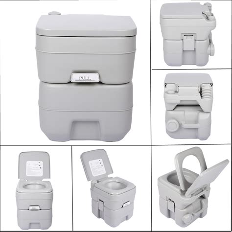 indoor portable toilet new 20l travel cing toilet flush porta potti outdoor