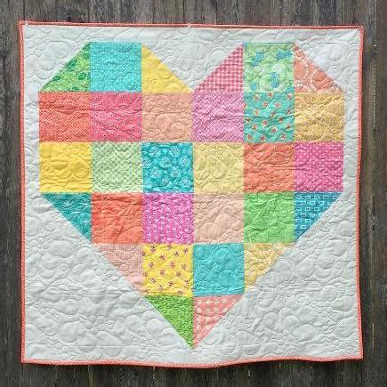 Baby Patchwork Quilt Pattern - the summer color forecast for quilting