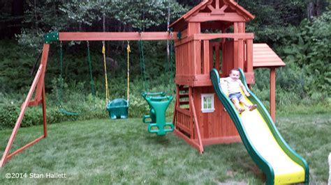 backyard discovery tanglewood cedar wooden swing set stan hallett playset assembly installaton ma ct ri