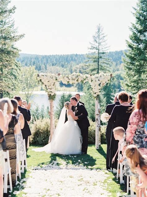 romantic champagne gold montana wedding modwedding