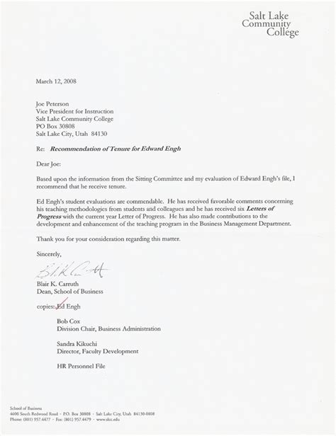 Tenure Evaluation Letter Edward G Engh Biography
