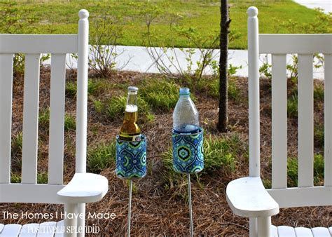 backyard drink holders outdoor drink holder tutorial positively splendid