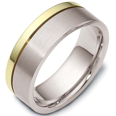 Two Tone Gold Wedding Band - s two tone gold wedding band collection the