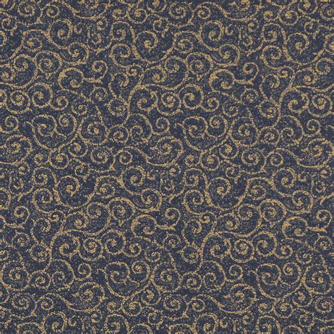 abstract pattern upholstery fabric navy blue and gold abstract scroll or swirl pattern damask