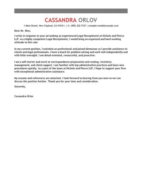 Cover Letter For Receptionist Australia receptionist cover letter sle australia docoments