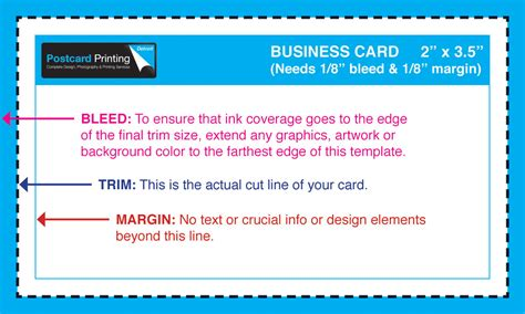 3 5x2 Business Card Template Free by Standard Templates Postcardprinterdetroit