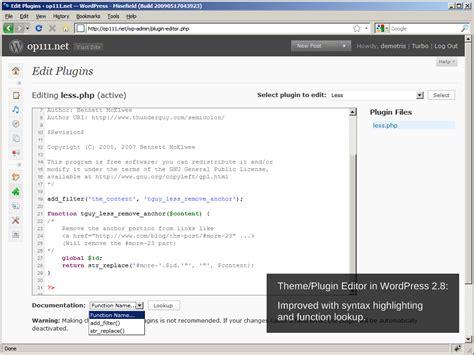 theme generator plugin op111 net wordpress 2 8 what s new