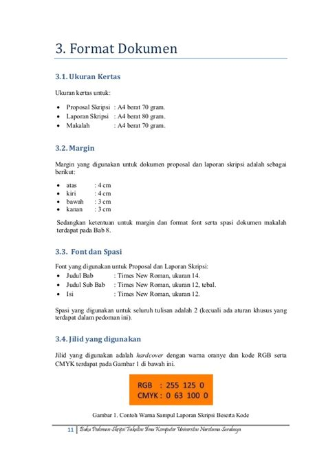 format margin skripsi mk153027 pedoman skripsi fasilkom unnar okt2013