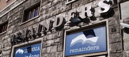libreria remainders chiude a roma l ultima remainders il post