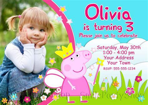 Peppa Pig Birthday Invitation Peppa Pig Invitation Personalized Digital File By Smileparty On Peppa Pig Birthday Invitation Free Template