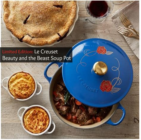 beauty and the beast pot williams sonoma debuts beauty and the beast le creuset
