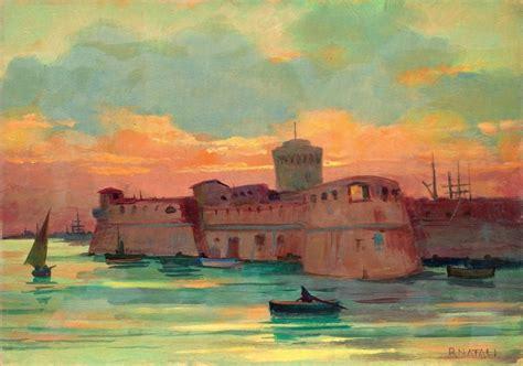 bartolini porto torres renato natali fortezza di livorno olio su compensato