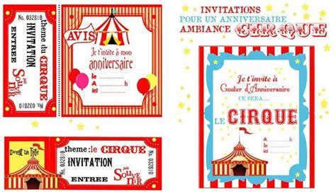 Decor Cirque A Imprimer by Invitation Anniversaire Cirque Anniversaire