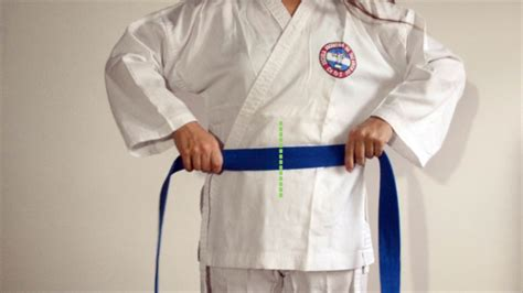 how to tie a karate belt with pictures wikihow