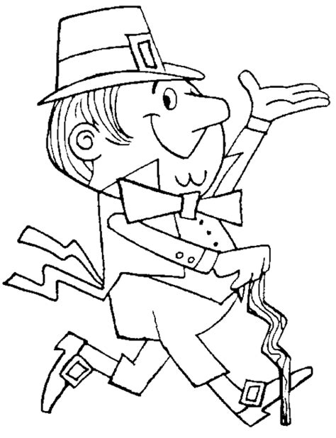 Leprechaun Coloring Pages Coloring Town Leprechaun Coloring Page