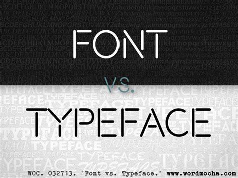 typography vs font word mocha