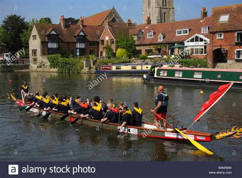 dragon boat festival kingston dragon boat racing thames stock photos dragon boat