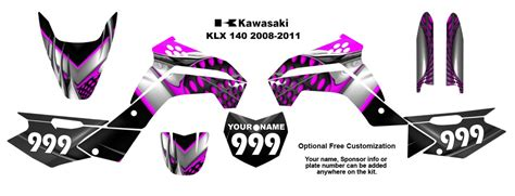 Sticker Decal Striping Dekal Stiker Klx 024 Glossy kawasaki klx 140 2008 11 mx bike decal kit 7777 pink ebay