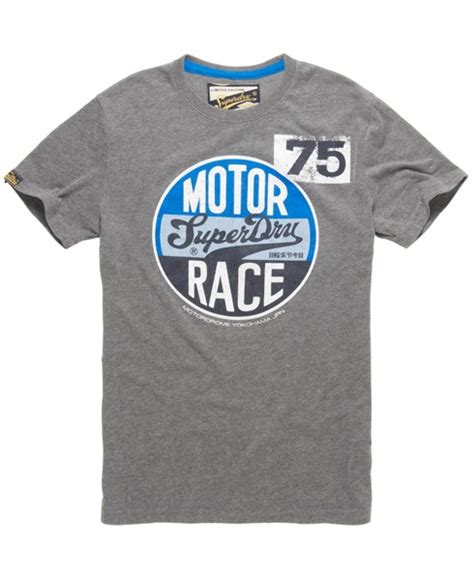 T Shirt Race mens motor race t shirt in marl superdry