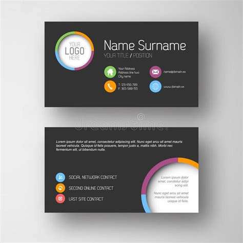 understated business card website template simple fresh business card website template choice image