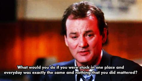 groundhog day bill murray quotes groundhog day quotes gifs