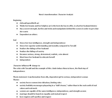 a doll house full text pdf notes on nora s transformation in quot a dolls house quot international baccalaureate world