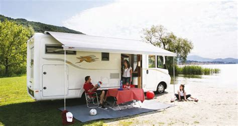 awnings for motorhomes second hand fiamma f65l roof mounted awning for motohomes