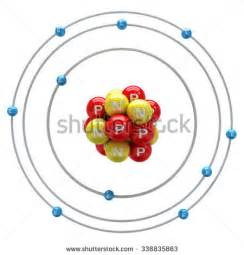 Protons For Neon Neon Atom On White Background Stock Illustration 338835863