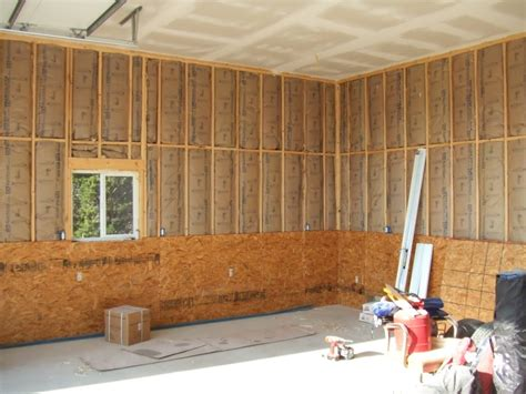 Plywood Garage Walls by Garage Osb Vs Drywall 2017 2018 Best Cars Reviews