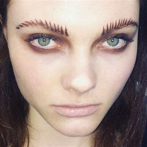 current eyebrow style feral frond brows the new edgy eyebrow trend be asia