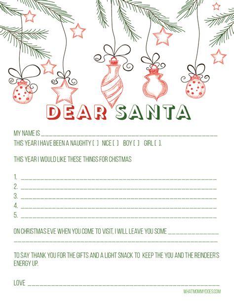 cute printable letter santa blank letter santa