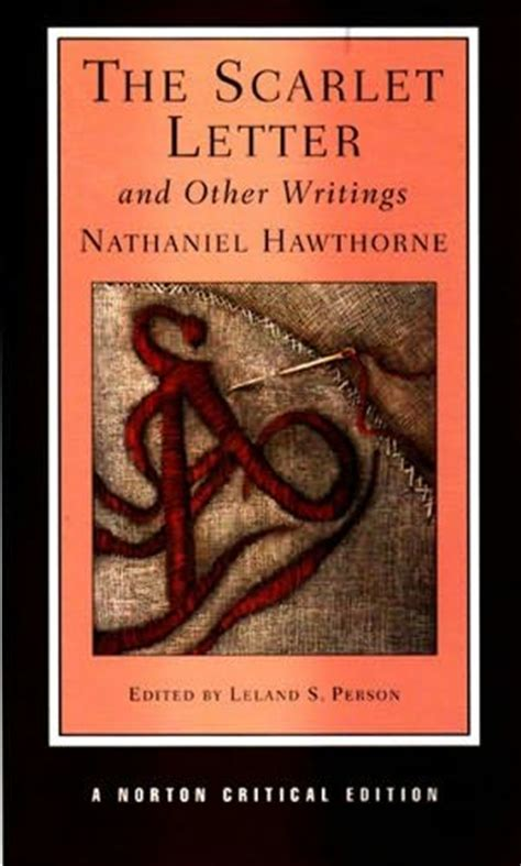 scarlet letter book cover the scarlet letter and other writings by nathaniel hawthorne