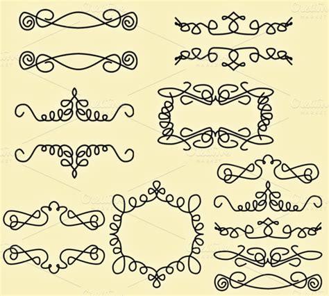 sun doodle brushes photoshop doodle elements vectors clipart illustrations on