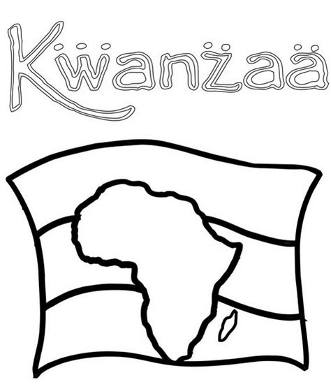 december holiday kwanzaa coloring pages family holiday