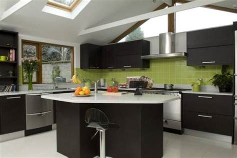 black and lime green kitchen ideas black kitchen cabinets and green walls the interior