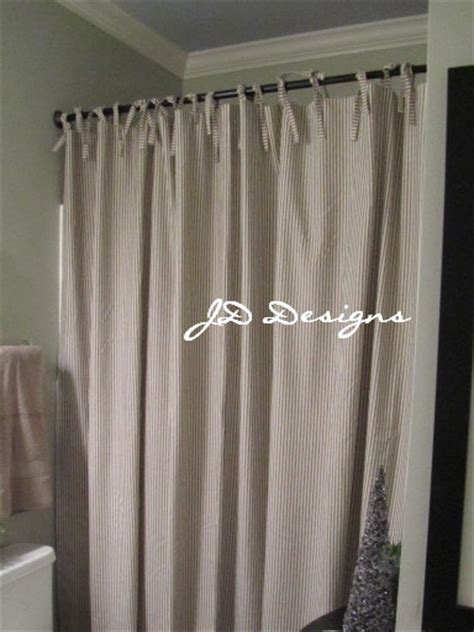 Longer Shower Curtains by Shower Curtain Black And White Ticking By Jd