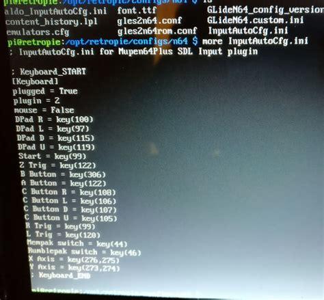 retropie us keyboard layout retroarch core