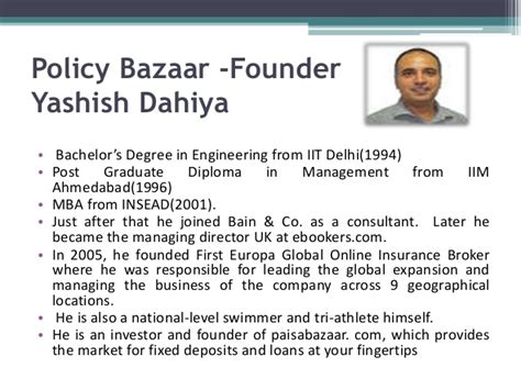 Of Mba Credibility by Policy Bazar Journey Its Foundation