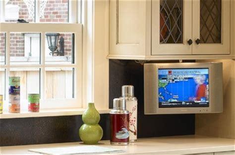 under cabinet flip down kitchen tv trekkerboy flip down tv kitchen pinterest tvs and kitchens