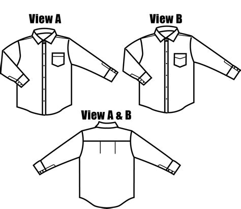 pattern black and white shirt islander sewing systems 203 men s classic dress shirt