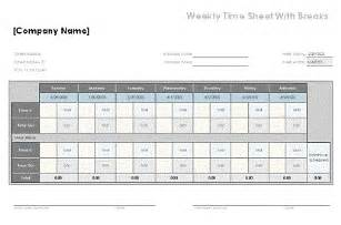 Weekly Timesheet Template Excel Free by Timesheet Template 187 2016 Calendar