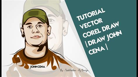 tutorial vector corel draw youtube tutorial vector corel draw draw john cena by