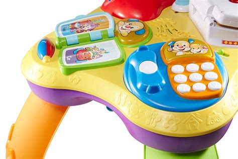 fisher price laugh learn puppy learning table mesa de atividades bilingue fisher price laugh learn