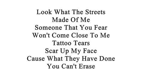 tattooed tears lyrics conejo tears with lyrics on screen