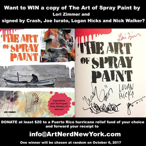 contest win signed copies ebooks win a copy of of spray paint signed by logan hicks