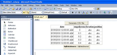 format csv file c export gridview data in csv format