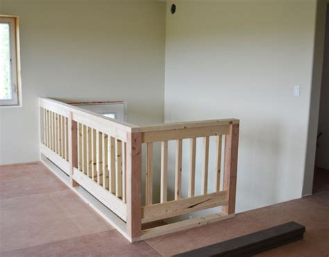 building a banister ana white wood handrail plans diy projects